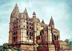 Chaturbhuj-Temple-Painting