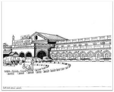 Jhansi-Railway-Station-Sketch