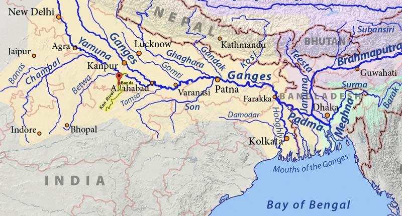 Ken River Map