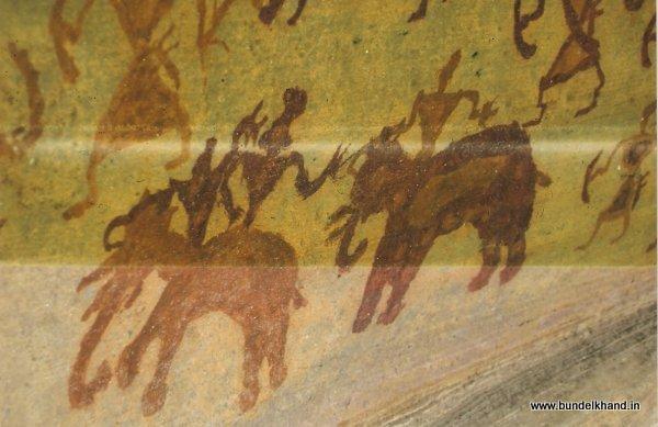 Rock Painting - riding elephant.jpg (600×389)