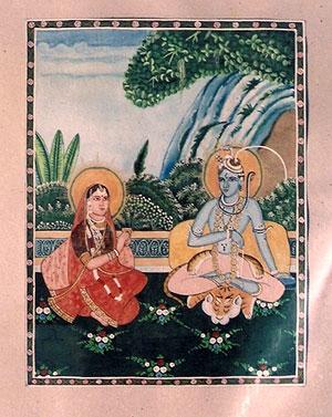 bundeli-shiva-parvati-painting